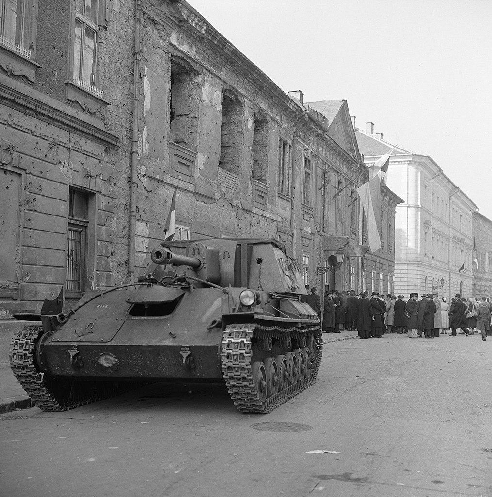 Imagen de Budapest durante el levantamiento de 1956