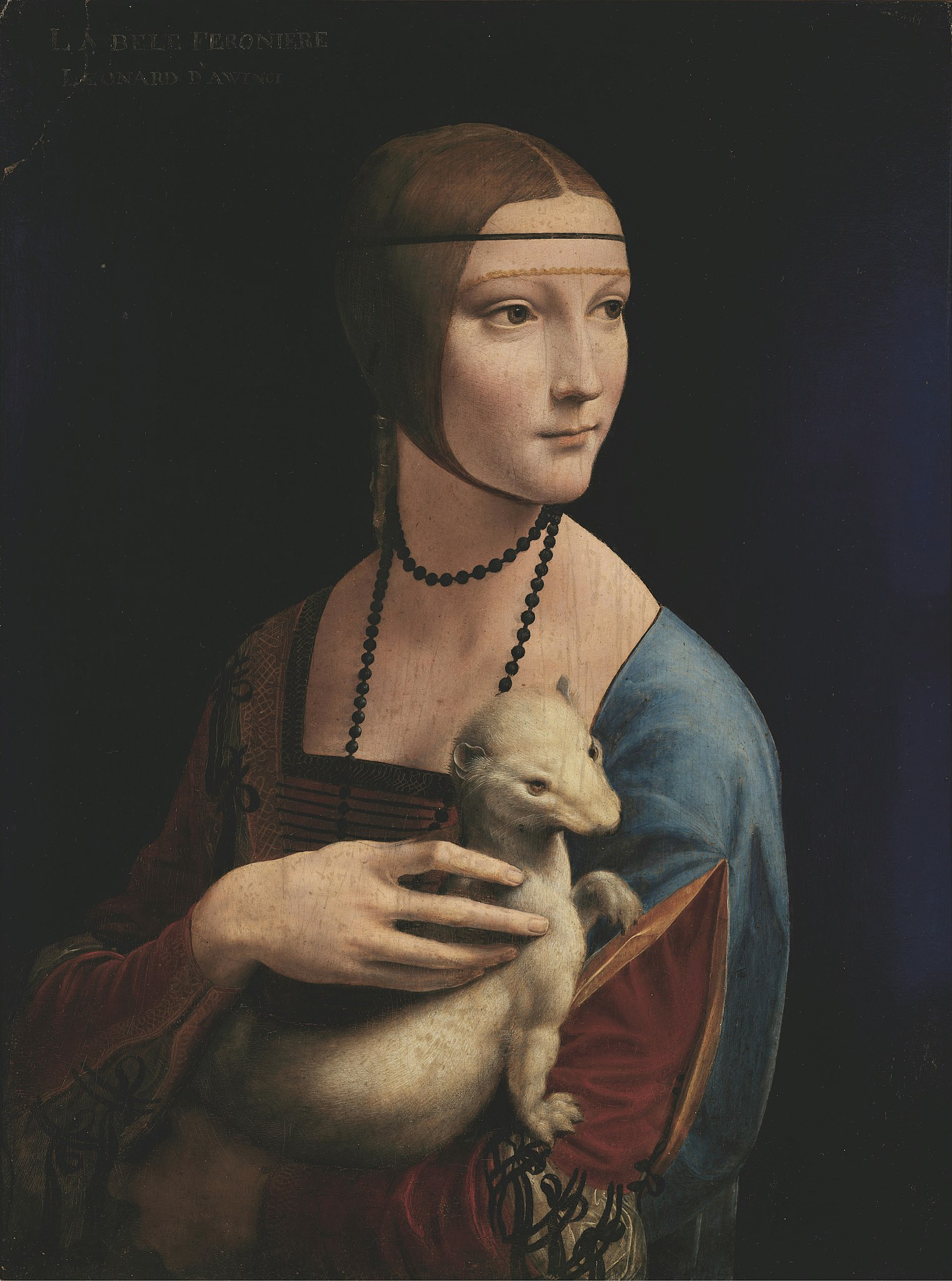 Imagen del cuadro La dama del Armiño de Leonardo Da Vinci