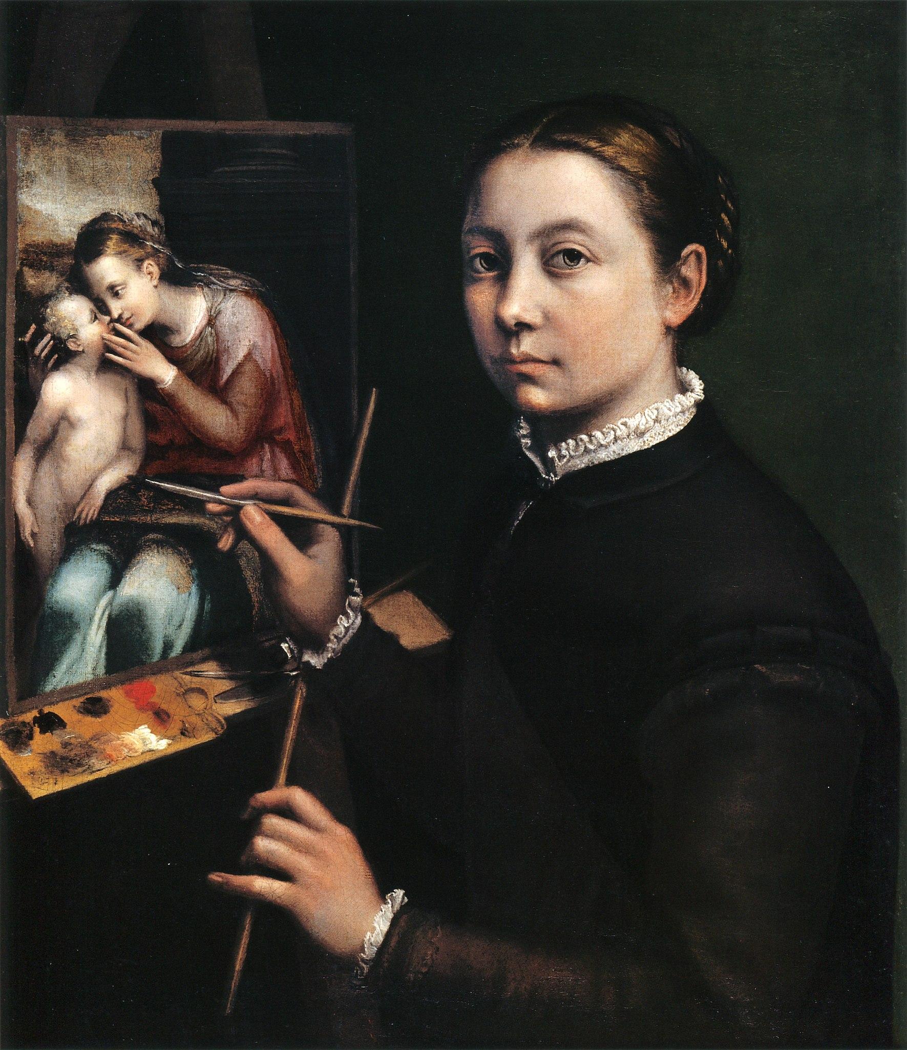 Imagen del autorretrato de Sofonisba Anguissola