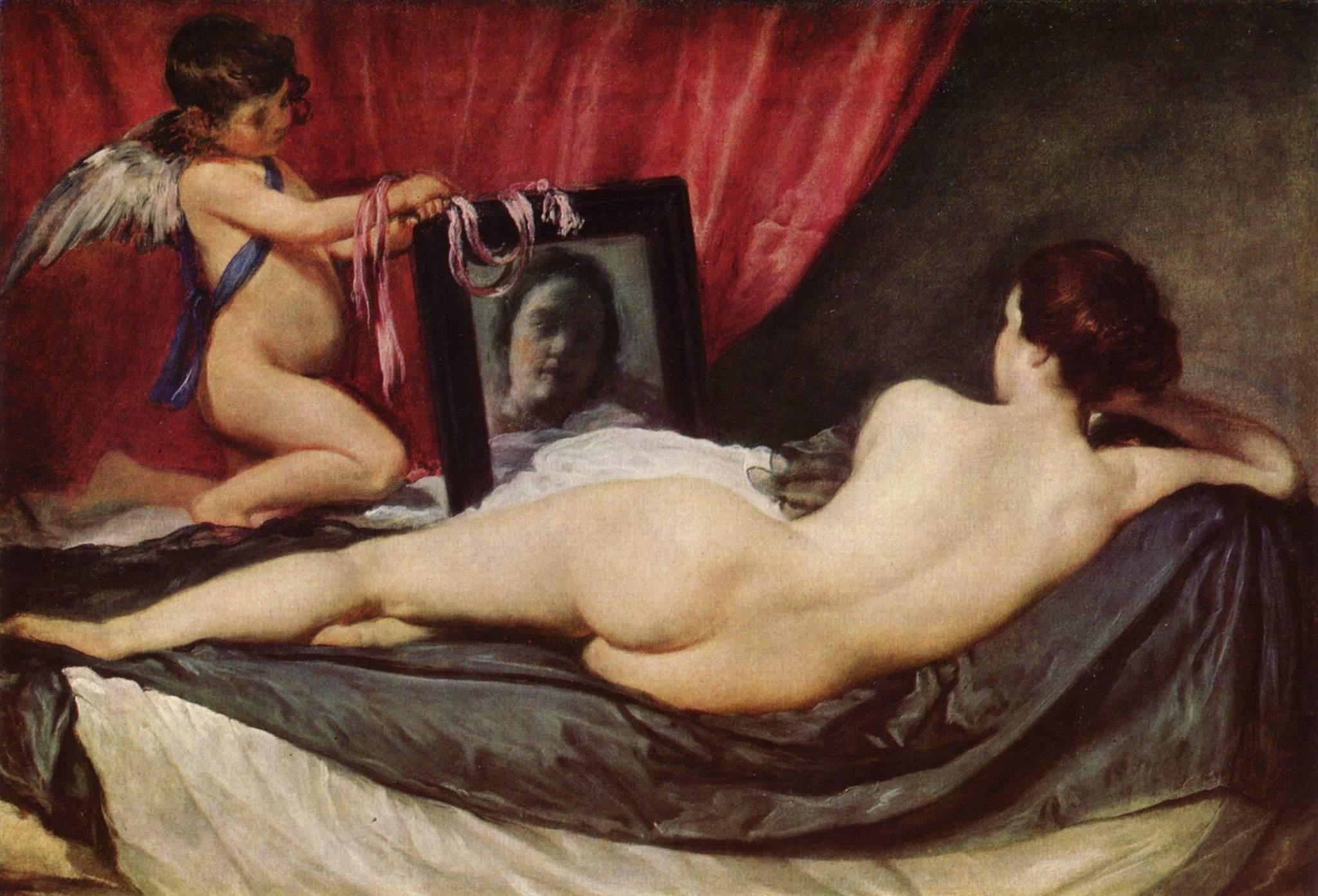 Imagen del cuadro La Venus del Espejo de Diego Velázquez