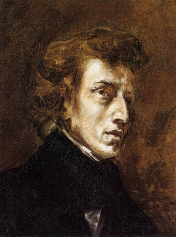 Imagen del retrato de Frederick Chopin por Eugene Delacroix