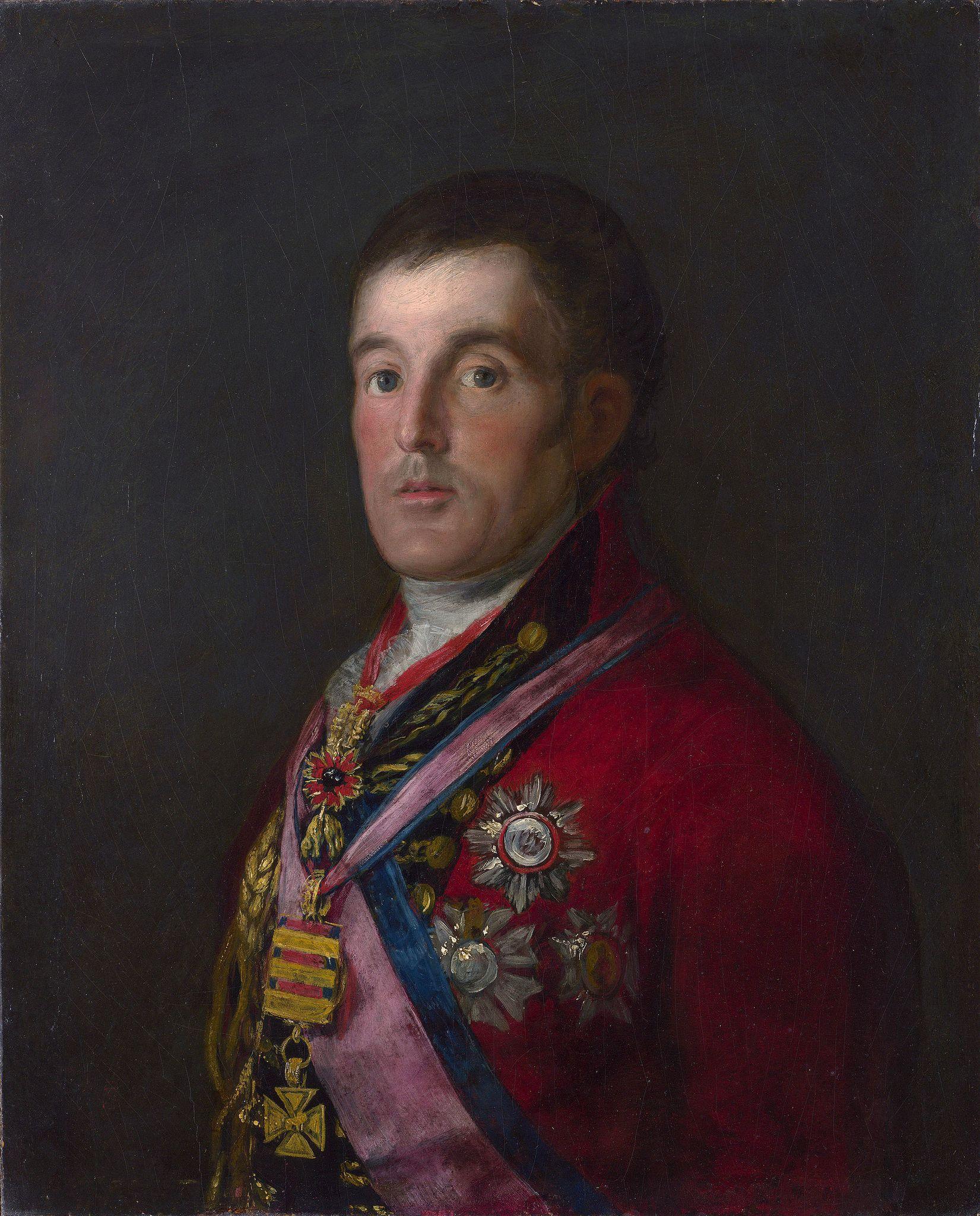 Imagen del Retrato del Duque de Wellington por Francisco de Goya