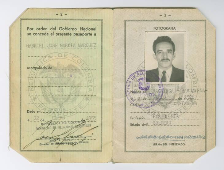 Imagen del pasaporte de Gabo