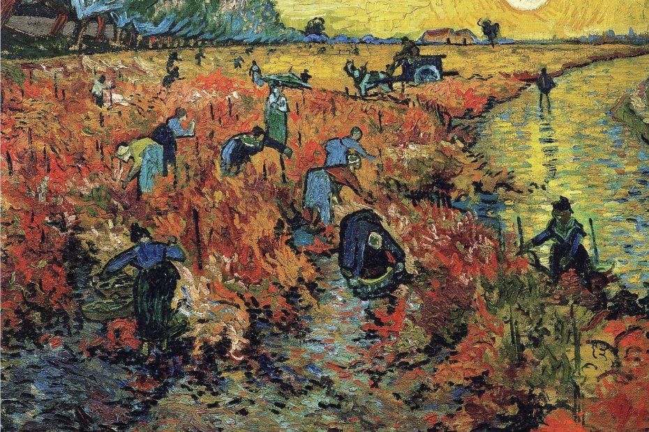 Imagen del cuadro El viñedo rojo de Vincent Van Gogh